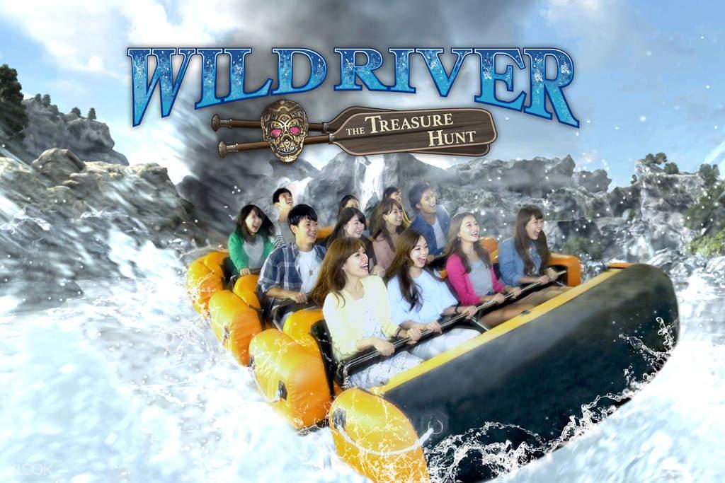wildriver ride in tokyo joypolis